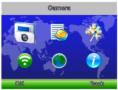Иконки дисплея цифровой видеоняни AngelEye AE210