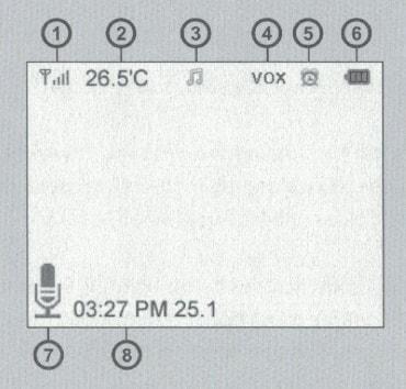 Иконки дисплея цифровой видеоняни AngelEye AE603