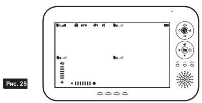 Режим разделённого дисплея видеоняни Switel BCF930 с экраном 7 дюймов
