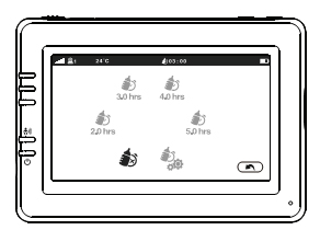 Выбор активной камеры видеоняни Ramili RV900 с экраном 4,3 дюйма
