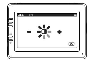 Изменение яркости экрана видеоняни Ramili RV900 с экраном 4,3 дюйма