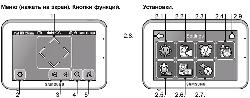 Инструкция по эксплуатации видеоняни Samsung SEW-3043WP